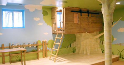 入住樹屋!卡通式的樹屋造型房間 大人物