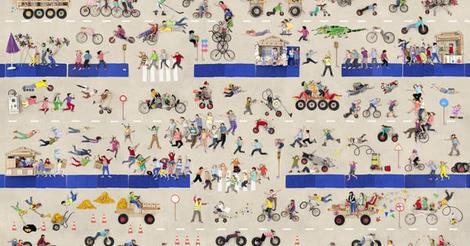 上千張兒童寫真合成巨幅歡樂街景照