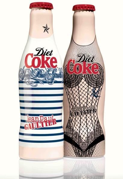 Jean Paul-Gaultier為可口可樂設計瓶身