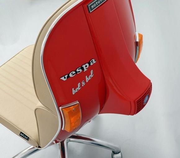 好機車的偉士牌改造椅