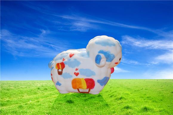 彩繪羊羊撲滿