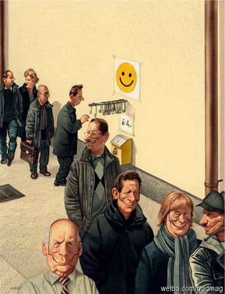 鬱悶城市人都需要的笑臉掛勾