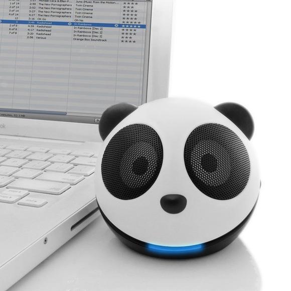 可愛的熊貓頭小喇叭