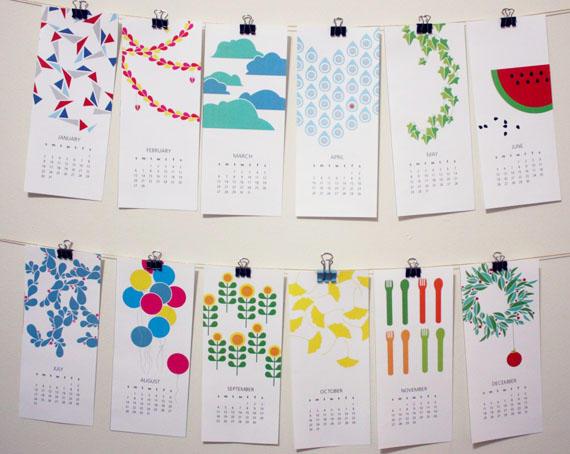 可以自己印的創意月曆