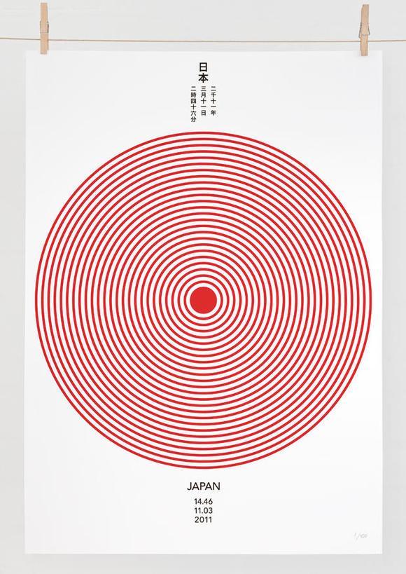 Daniel Freytag為日本賑災所設計的海報
