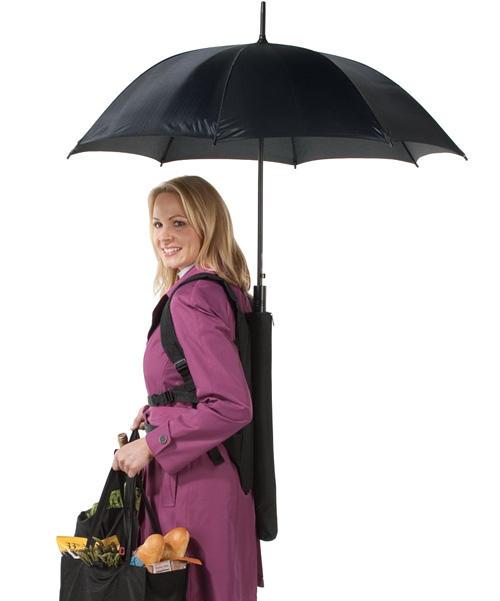 空不出手撐傘了嗎? 讓傘背包為你服務吧