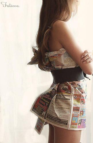 藝文風報紙洋裝