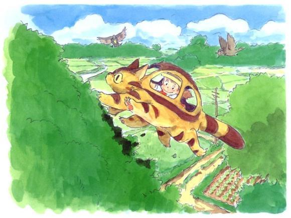 「小梅與小龍貓巴士」。吉卜力美術館|館內專用電影
