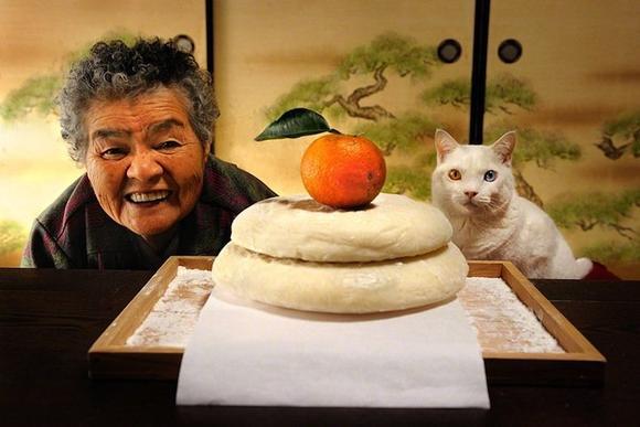 奶奶和她的貓