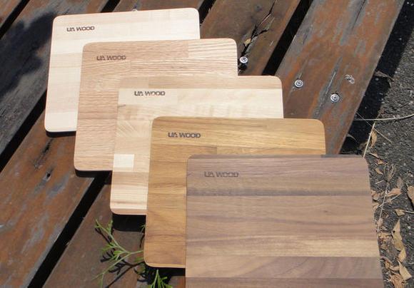 UA WOOD 【能量健康幾何美多拼木滑鼠墊】 讓辦公桌風景更豐富