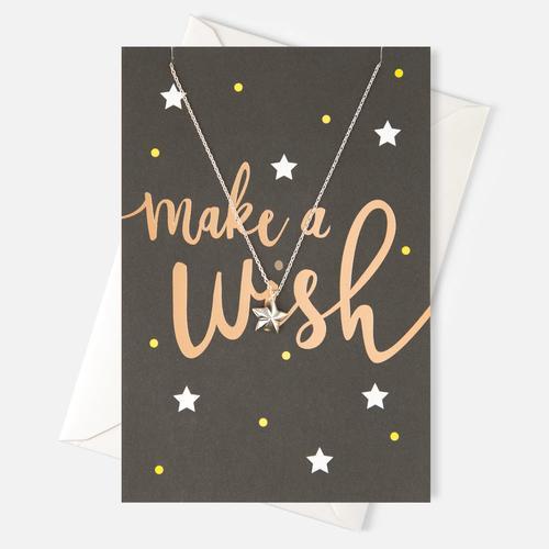 聖誕限定 星星項鍊 x 許願卡片